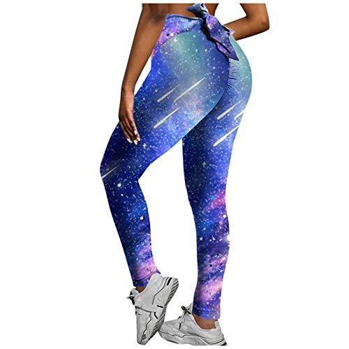 KYZRUIER Las mujeres impresas de cintura alta Strethcy Leggings de mariposa elástico control de barriga pantalones de yoga gimnasio entrenamiento running fitness