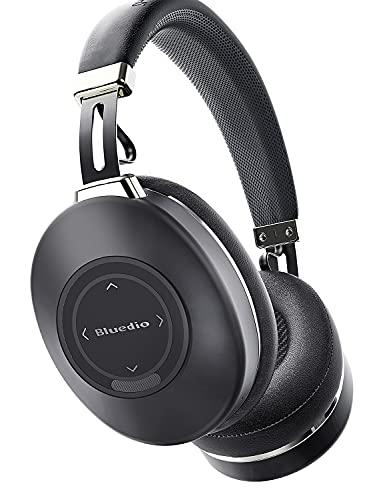 Cuffie Wireless Bluetooth 5.0 Cancellazione Attiva del Rumore, Bluedio H2 ANC Cuffie Over Ear con Mic Driver da 57 mm Stereo Hi-Fi, Controllo Touch Scorrevole, 40 ore di Lavoro per Telefono/Android/PC
