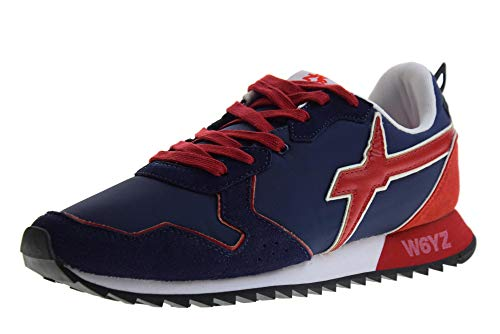 sneakers uomo wizz WIZZ MOD. 2013560-01 Sneakers W6YZ Jet M Pelle-Tessuto Uomo Blue-Rosso 42