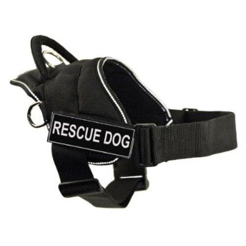 Dean & Tyler DT Fun Works Hundegeschirr, Rettungshund, mit reflektierendem Rand, Größe XS, passend für Gurtgröße: 50,8 cm bis 58,9 cm