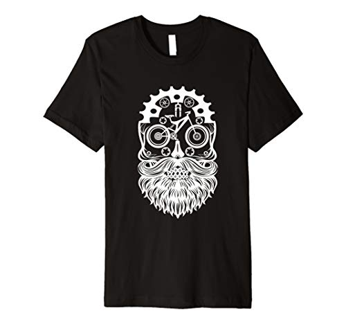 Mountain Bike Sugar Skull MTB Ride Trails Cyclist & Bicycle Premium T-Shirt