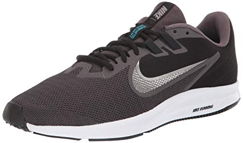 Nike Men's Downshifter 9 Sneaker, Thunder Grey/Metallic Pewter-Black, 9.5 Regular US