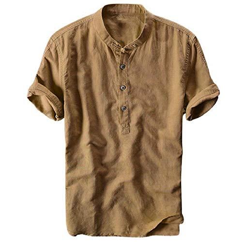N\P Camisa de los hombres hawaiano fresco y delgado transpirable collar colgante teñido degradado algodón camisas para hombres camisa