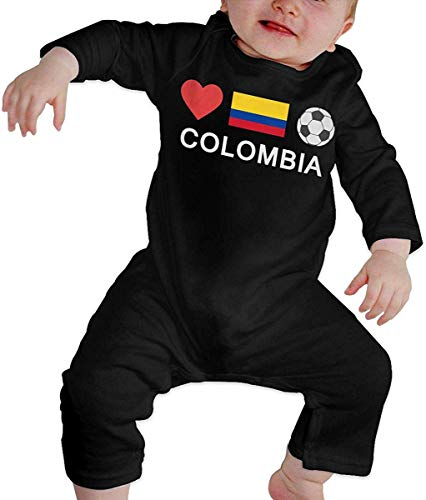 WlQshop Mono para Bebé,Mameluco Bebé Unisex Colombia Football Colombia Soccer Baby Boy Long Sleeve Infant Cotton Bodiess