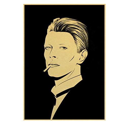 Hanyyj Póster David Bowie Rock Cantante De Música Póster Lienzo Pintura Al Óleo Mural Bar/Decoración De La Habitación Decoración De La Pared 40X60Cm Sin Marco