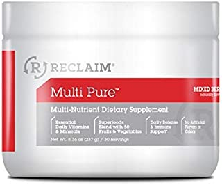 Complete Nutrition Reclaim Multi Pure, Mixed Berry, Vitamin & Mineral Supplement, Digestive & Immune Support, 30 Servings