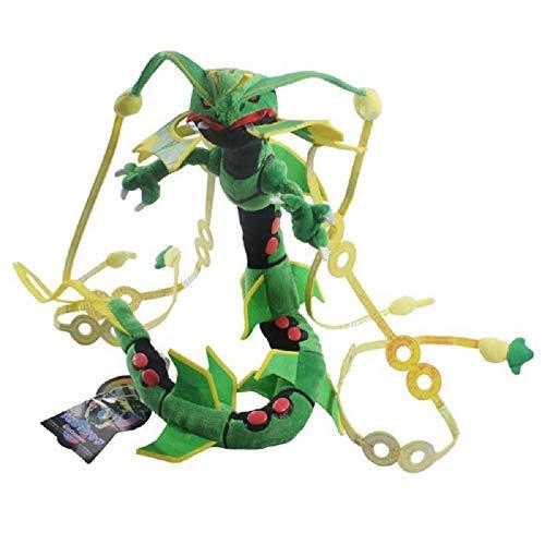 Rayquaza Dragon Plush Center XY Soft Toy Stuffed Anime Collectible Dolls 31' (Green X)