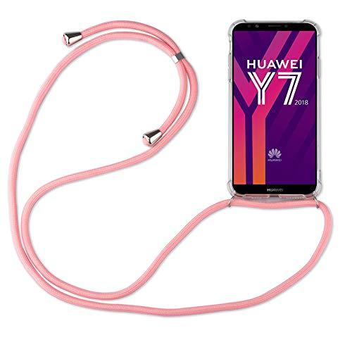 betterfon   Huawei Y7 2018 Handykette Smartphone Halskette Hülle mit Band - Schnur mit Hülle zum umhängen Handyhülle mit Kordel zum Umhängen für Huawei Y7 2018 / Honor 7C Rosa