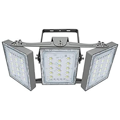 LED Flood Light, STASUN 90W 8100lm Outdoor Security Lights with Wider Lighting Angle, 5000K Daylight, Adjustable Heads, IP65 Waterproof Outdoor Wall Lighting for Yard, Street, Warehouse