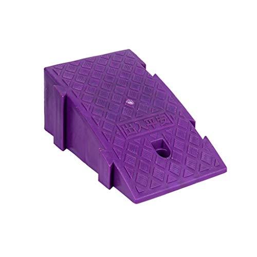 Bunter Kunststoff Rampen, Rollstuhlrampen Auto Rampen Fahrzeug Rampen Tür Rampen Auffahrrampen for Roller Fahrzeuge (Color : Purple, Size : 25 * 45 * 19cm)