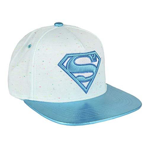 Artesania Cerda Gorra Visera Plana Moda Superman, Blanco (Blanco Blanco), M (Tamaño del fabricante:57) para Niños