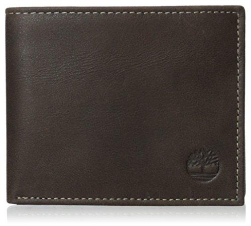 Timberland Herren Leather Wallet with Attached Flip Pocket Reisezubehör - zweifach gefaltetes Portemonnaie, Braun (Wolken), Einheitsgröße