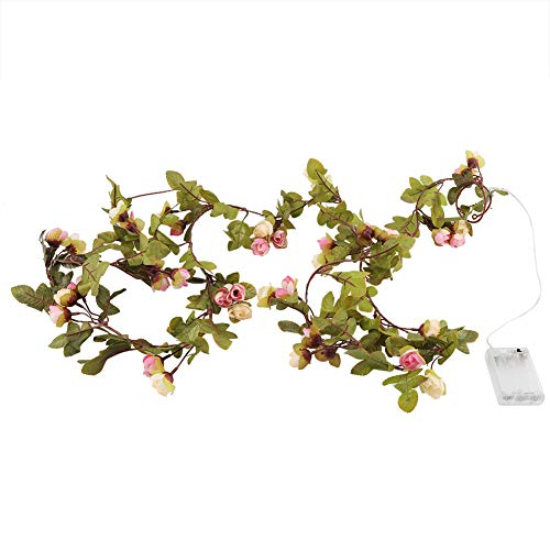 Operalie Cadena de luz, 2.5 m LED Flor de Hadas Cadena de luz con Pilas para la decoración del hogar del Banquete de Boda de Navidad