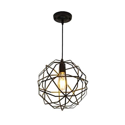 DYXYH Luz Pendiente, Moderna Minimalista de una Sola Cabeza esférica de la lámpara, de Hierro Forjado Hueco LED de iluminación de Interior de la luminaria