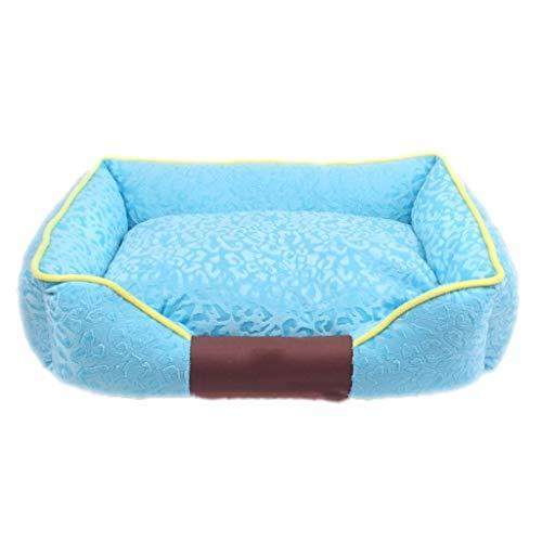 KJRJCW Divano Letto Ortopedico per Animali Domestici - Letto per Cani, Gatti o Cuccioli con Materasso in Schiuma di Memoria per Animali Domestici con Coperchio Lavabile Amovibile (Color : Blue)
