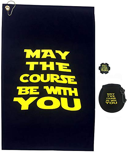 Giggle Golf May The Course Be with You Golf Towel, Poker Chip & Ball Cleaning Pouch