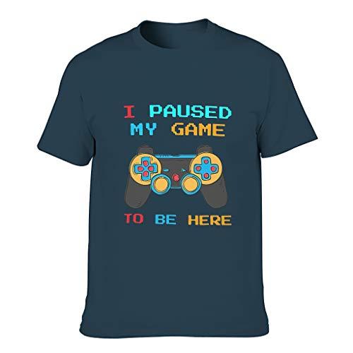 Herren Ich Habe Mein Spiel angehalten, um Hier zu Sein Baumwolle T-Shirts - Sarkasmus-Spieler Lässig Sommer Top Navy s
