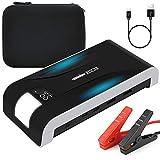 RESCIEN Booster Batterie, Jump Starter 600A 12000mAh Démarreur de Voiture Moto Portable (4,0L Essence 2,0L Diesel) Alimentation Eléctrique d'urgence pour Voiture avec Écran LCD & LED Lampe & 2 USB