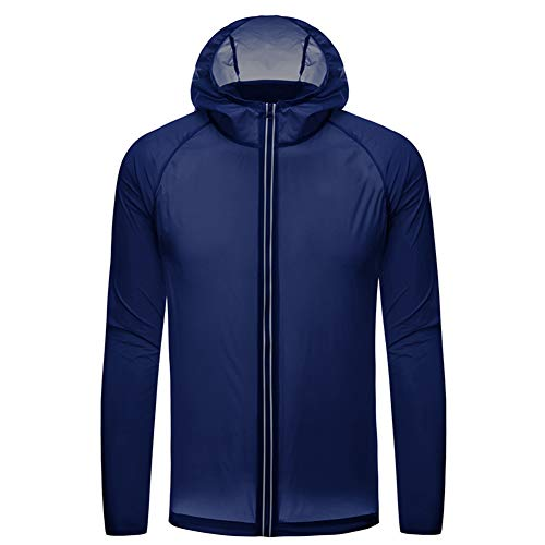 Whittie Softshelljacke übergangsjacke Regenjacke mit Kapuze Winddicht atmungsaktiv Outdoor Angelbekleidung M?nner und Jungen,Dark-Blue,S