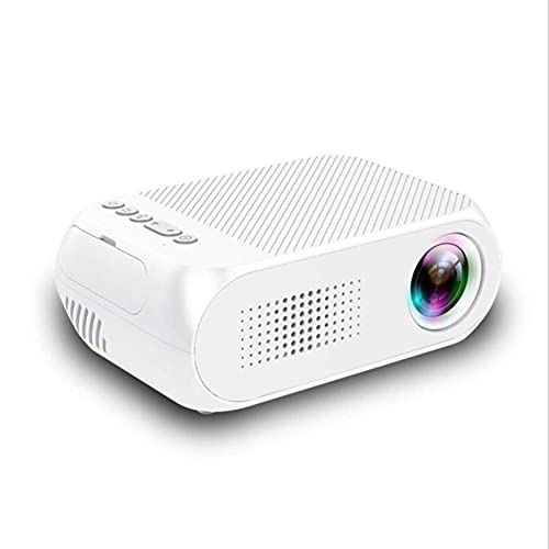 ZHAOHGJ Worth Having - LED YG320 Portable 600 Lumen 3.5mm Audio 320x240 Pixel HDMI-Compatible USB Mini Proyector Play Play, Blanco (Color : White)