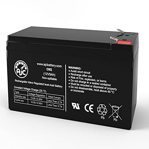 AJC Battery Compatible with CyberPower RB1280X2B 12V 9Ah UPS Battery