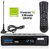 Bild des Produktes 'Ankaro DVB-T2 Receiver DTR 50 inkl. 3 Monate GRATIS Freenet TV digitaler H.265 Empfänger in schwarz inklusive DVB-T'