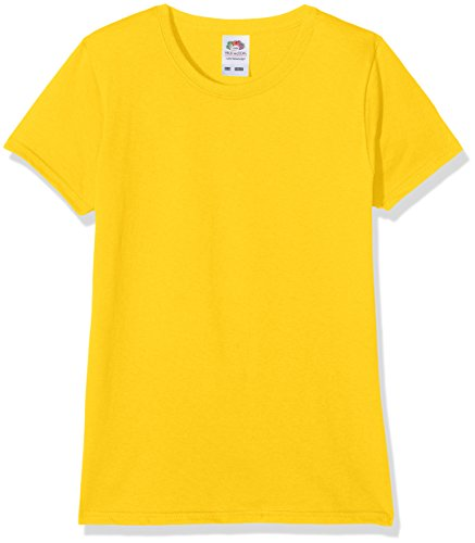 Fruit of the Loom Fruit of the Loom Mädchen T-Shirt Valueweight, 5-er pack, Gelb (Sunflower), Gr. 3-4 Jahre (104 cm)