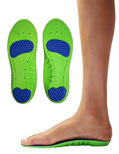 KidSole Memory Foam Sport Plus + Children's Athletic Memory Foam Insoles for Arch Support and Comfort for Active Children: with Extra Memory Foam Top Layer. ((24 cm) Kids Size 3-6)