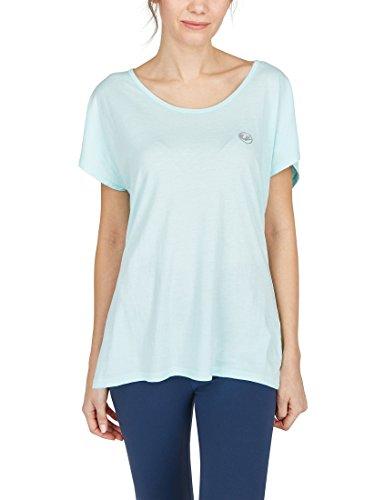 Ultrasport Balance T-shirt de yoga/fitness Femme, Turquoise (Turquoise Clair), Small