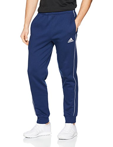 adidas Herren Core 18 Sweat Trainingshose, Dark Blue/White, L