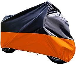 Tokept Black and Orange Waterproof Sun Motorcycle Cover (XXXL).116