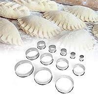 ドーナツ型、ステンレス鋼の滑らかな表面防食耐久性のある多機能クッキー型、ベーカリーホーム用12個
