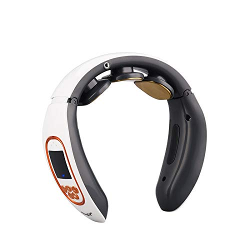 YMYGCC Masajeador de Cuello 4D Inteligente eléctrica Cuello y la Espalda Pulso masajeador de Calor inalámbrico vértebra Cervical Relax Alivio del Dolor Masaje de amasamiento de la máquina 99