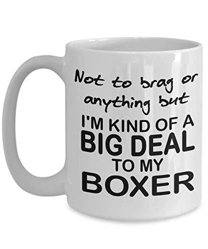 N\A Taza de café Divertida del Boxeador Tipo de Gran Oferta Regalo de la mamá del Boxeador para los Amantes del Boxeador