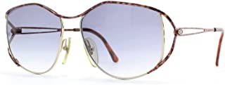 Christian Dior 2525 41 Gold Brown Square Womens Cetified Vintage Sunglasses