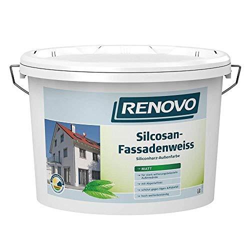 Fassadenweiss Silcosan weiß 5 L matt Fassadenfarbe Renovo