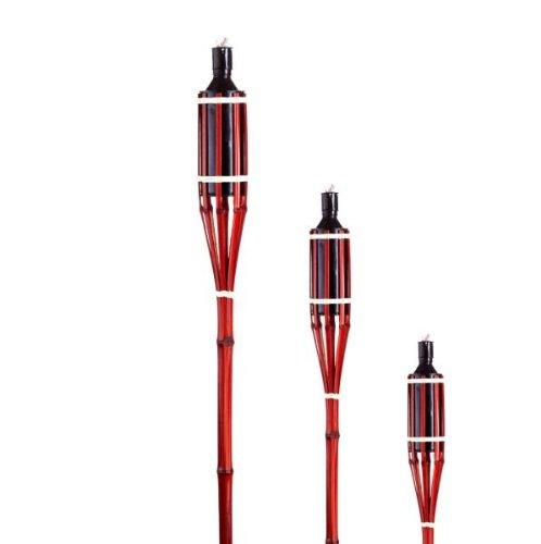 tib 11240 Art. Code-11240, Bamboe Fakkel Zonder Lamp Olie, Capaciteit-185 Millilitres, Hoogte 90 cm, Multi kleuren, One Size
