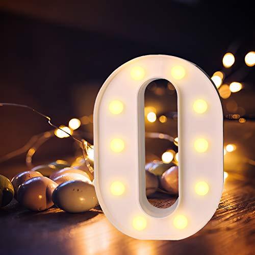 Letras LED iluminadas con luz blanca cálida, luz nocturna para casa, fiestas, bares, bodas o decoración de fiestas
