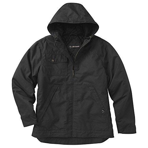 DRI Duck Herren 5065 Yukon Jacke mit Kapuze, wasserabweisend S Schwarz