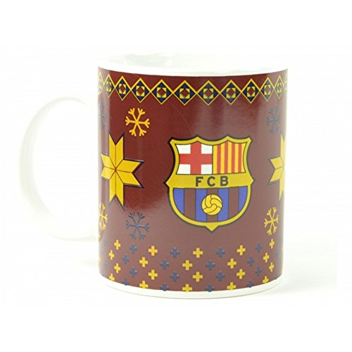 Barcelona FC Gunners Red Xmas Tea Football Club Crest Fan Gift Boxed Mug Official