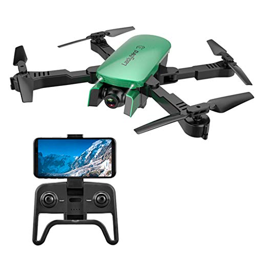 IIIL Foldable Mini RC Quadcopter 4K Selfie Drone, HD Dual Camera FPV Ladybird Altitude Hold Optical Flow RC Drone Helicopter Best Gift for Child,1080p Green