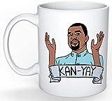 Kanye West Mug (Kim Kardashian, Jay Z, Rapper, Drake, Rap, Snoop Dogg, Funny Gift, Yeezy, Ye, Dr Dre, Cardi B, Chance), 11oz Ceramic Coffee Novelty Mug/Cup, Gift-wrap Available