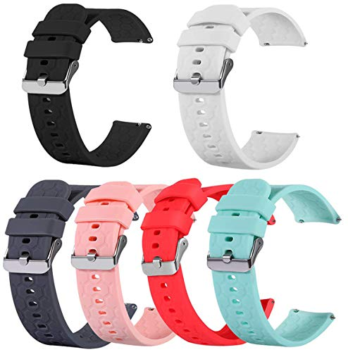 TenCloud 6-Pack Compatible with Yamay Smart Watch Bands Replacement Band Soft Washable Straps Wristbands Accessoy for Fitness Watch SW023 SW021 SW020 and ID205L ID205U ID205S