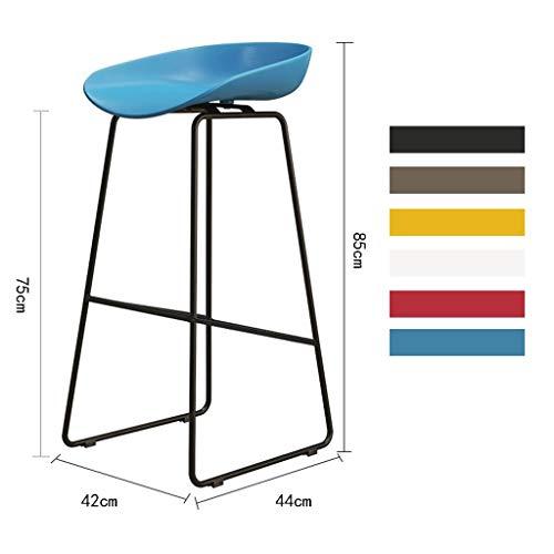 Xia Yuuu Moderner Besprechungsstuhl XXXL Nordischer Besprechungsstuhl Wartestuhl Mit Metallbasis Bürostuhl Ohne Räder Ergonomischer Stuhl Schreibtischstuhl (Size : Blue)