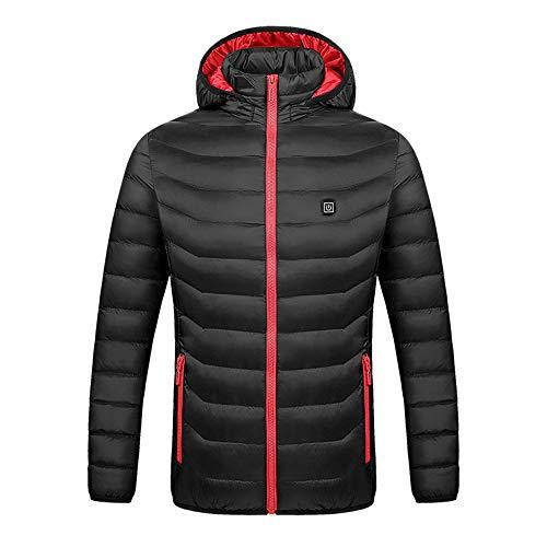 LYzpf Damen Beheizte Jacke Daunenjacke Hoodies USB Wiederaufladbar Beheizbare Kleidung Winter Wärmer Bekleidung für Outdoorarbeiten & Tägliches Tragen,XL