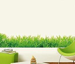 ملصقات جدارية لديكور المنزل تحاكي مظهر العشب والنباتات الخضراء للخزائن وغرفة المعيشة والزجاج والالواح وغرف الحضانة - اي جي