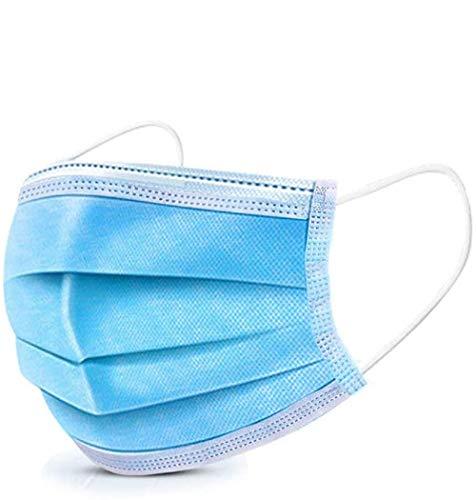 Gesichtsmaske, 100 Masken pro Packung, versiegelter Standardbeutel, geschützte Maske, blau