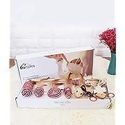 Alihoo Katzenspielzeug Set - Interaktiv Spielzeugset für Spaß, Federn - Katzenangel - Stoffmäuse, Sammlung in schöner Geschenkbox (7 Stück)