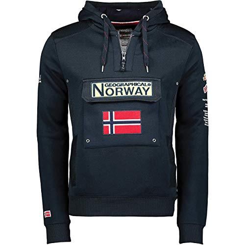 Geographical Norway GYMCLASS Men - Sudadera Capucha Bolsillos Hombre - Chaqueta Casual Hombres Abrigo - Camisetas Camisa Manga Larga - Hoodie Deportiva Regular Fitness Jacket Tops (Marina XL)
