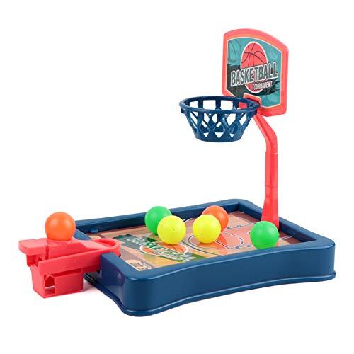 Juego de tiro de baloncesto, juego de mesa de baloncesto para padres e hijos, juego de mesa con 6 pelotas, color azul
